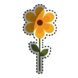 Nette Gartenblumenikone Stockfoto