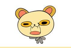 Nette gelbe Cat Emoji Upset Stockfotos