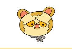 Nette gelbe Cat Emoji Upset Stockfotografie