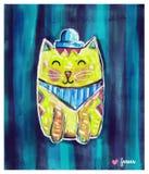 Nette gelbe Katze Lizenzfreie Stockfotos