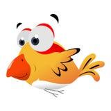 Nette gelbe Vogelkarikatur Lizenzfreie Stockfotos