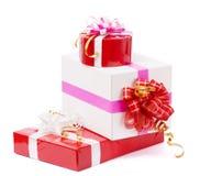 Nette Geschenke im Hintergrund Stockfoto