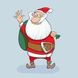 Nette gezeichnete Illustration Weihnachtsmann-Vektors Hand Stockbild