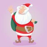 Nette gezeichnete Illustration Weihnachtsmann-Vektors Hand lizenzfreie abbildung
