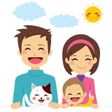 Nette glückliche Familie Stockfotos