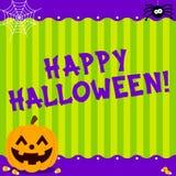 Nette glückliche Halloween-Mitteilung vektor abbildung