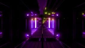 Nette glühende Raumtunnel-Hintergrundtapete 3d, die vjloop überträgt stock video footage