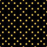 Nette goldene Sternverzierung auf schwarzem Hintergrund Stockfoto