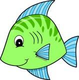 Nette grüne Fische Lizenzfreies Stockfoto