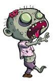 Nette grüne Zombiekarikatur Lizenzfreies Stockfoto