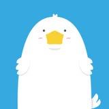Nette große fette weiße Ente Lizenzfreies Stockbild