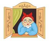 Nette Großmutter lizenzfreie abbildung