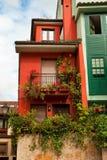 Nette Häuser Stockfotografie