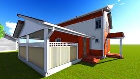 Nette Häuser in der Nachbarschaft Lizenzfreie Stockfotos