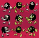Nette haarige Monsterkobold-Spielzeugkarikatur Stockfoto