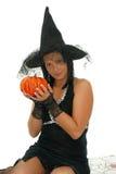 Nette Halloween-Hexe Stockbilder