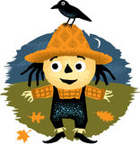 Nette Halloween-Vogelscheuche Stockbilder