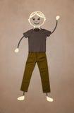 Nette Hand gezeichneter Charakter in der zufälligen Kleidung Lizenzfreie Stockfotografie