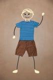 Nette Hand gezeichneter Charakter in der zufälligen Kleidung Lizenzfreie Stockbilder