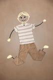 Nette Hand gezeichneter Charakter in der zufälligen Kleidung Stockfotos
