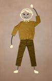 Nette Hand gezeichneter Charakter in der zufälligen Kleidung Lizenzfreie Stockfotos