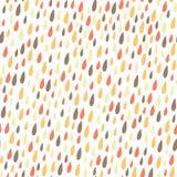 Nette Hand gezeichnetes nahtloses Muster des Gekritzels Lizenzfreie Stockbilder