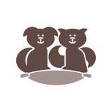 Nette Haustiere auf Kissen Lizenzfreie Stockfotografie