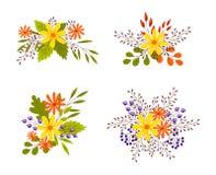 Nette Herbstblumensträuße vektor abbildung