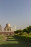 Nette hintere Ansicht von Taj Mahal in Indien Stockfoto