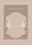 Nette Hochzeitseinladungskarte Lizenzfreies Stockfoto