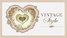 Nette Hochzeitseinladungskarte Lizenzfreie Stockfotografie