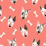 Nette Hunde (bulyteryers) vector Muster Lizenzfreies Stockfoto