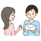 Nette Illustration des Mannes und der Frau Lizenzfreie Stockbilder