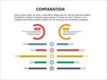 Nette infographic Schablone und PowerPoint vektor abbildung