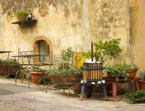 Nette italienische Straße Stockbild