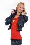Nette junge blonde Frau Stockfotos