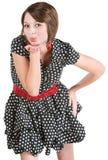 Nette Frauen-durchbrennenküsse lizenzfreie stockbilder