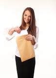 Nette junge Geschäftsfrau Stockfoto