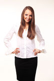 Nette junge Geschäftsfrau Stockbilder