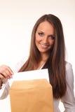 Nette junge Geschäftsfrau Lizenzfreies Stockbild