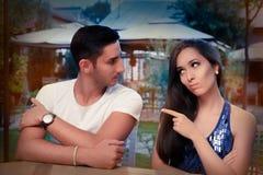 Nette junge Paar-Argumentierung Stockfoto