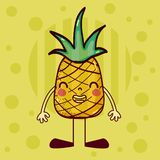 Nette Karikatur der Ananas vektor abbildung