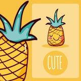 Nette Karikatur der Ananas stock abbildung