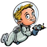Nette Karikatur des Raumfahrers Stockfotos