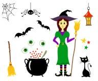 Nette Karikatur gespenstisches characterr für Halloween stock abbildung
