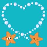 Nette Karikatur Starfish in der romantischen Illustration der Liebe Lizenzfreie Stockbilder