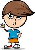 Nette Karikaturillustration des kleinen Jungen Lizenzfreie Stockfotografie