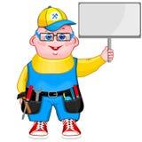 Nette Karikaturillustration eines Mechanikers Stockbilder