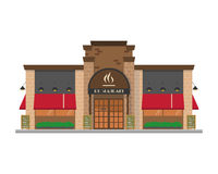 Nette Karikaturvektorillustration eines Restaurants Lizenzfreie Stockfotos