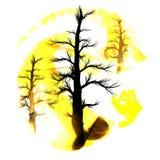 Nette Karte der Welt der Blumen und der feierlichen Fahne mit Basisrecheneinheit und Marienkäfer Konzept-heiße Erde vom Brennen Lizenzfreie Stockfotos